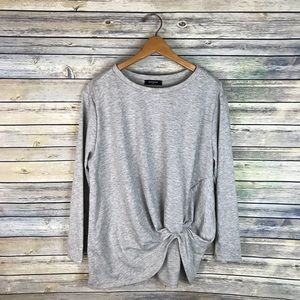 Botanique Grey Slouchy Front Tuck Tee